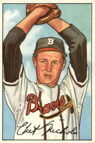 1952 Bowman #120 Chet Nichols RC