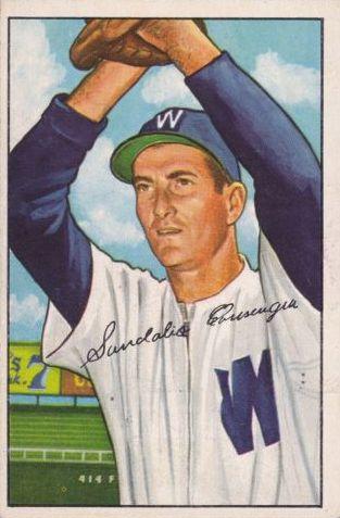 1952 Bowman #143 Sandy Consuegra