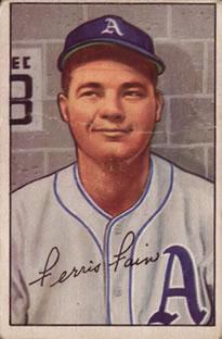 1952 Bowman #154 Ferris Fain