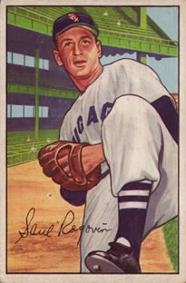 1952 Bowman #165 Saul Rogovin RC