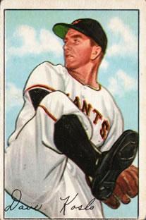 1952 Bowman #182 Dave Koslo