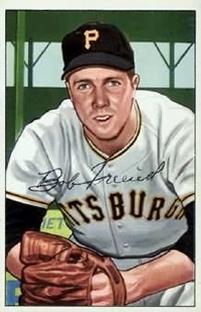 1952 Bowman #191 Bob Friend RC