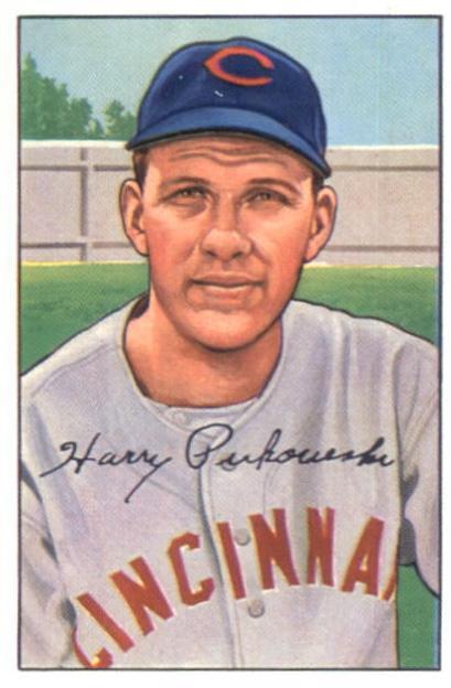 1952 Bowman #202 Harry Perkowski RC