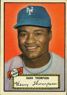 1952 Topps #3A Hank Thompson Black