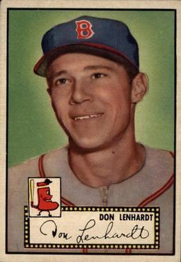 1952 Topps #4A Don Lenhardt Black