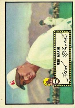 1952 Topps #8A Fred Marsh Black RC