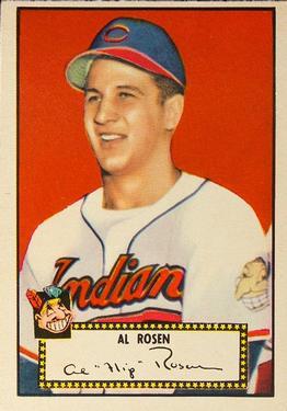1952 Topps #10A Al Rosen Black