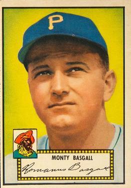 1952 Topps #12A Monty Basgall Black RC