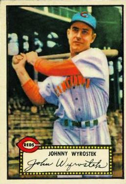 1952 Topps #13 Johnny Wyrostek