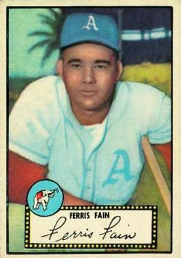 1952 Topps #21A Ferris Fain Black