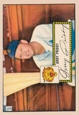 1952 Topps #28 Jerry Priddy