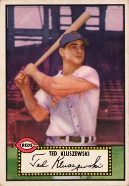 1952 Topps #29A Ted Kluszewski Black