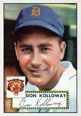 1952 Topps #104 Don Kolloway