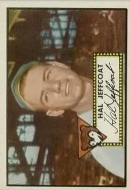 1952 Topps #341 Hal Jeffcoat