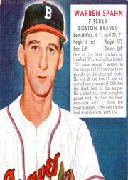 1952 Red Man #NL22 Warren Spahn