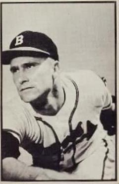 1953 Bowman Black and White #51 Lou Burdette