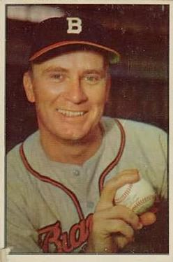 1953 Bowman Color #37 Jim Wilson