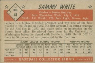 1953 Bowman Color #41 Sammy White back image