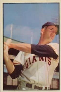 1953 Bowman Color #74 Don Mueller