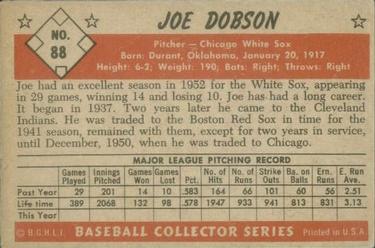 1953 Bowman Color #88 Joe Dobson back image