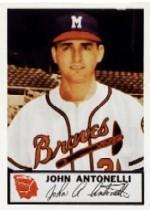 1953 Braves Johnston Cookies #2 John Antonelli