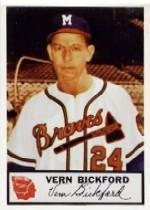 1953 Braves Johnston Cookies #3 Vern Bickford
