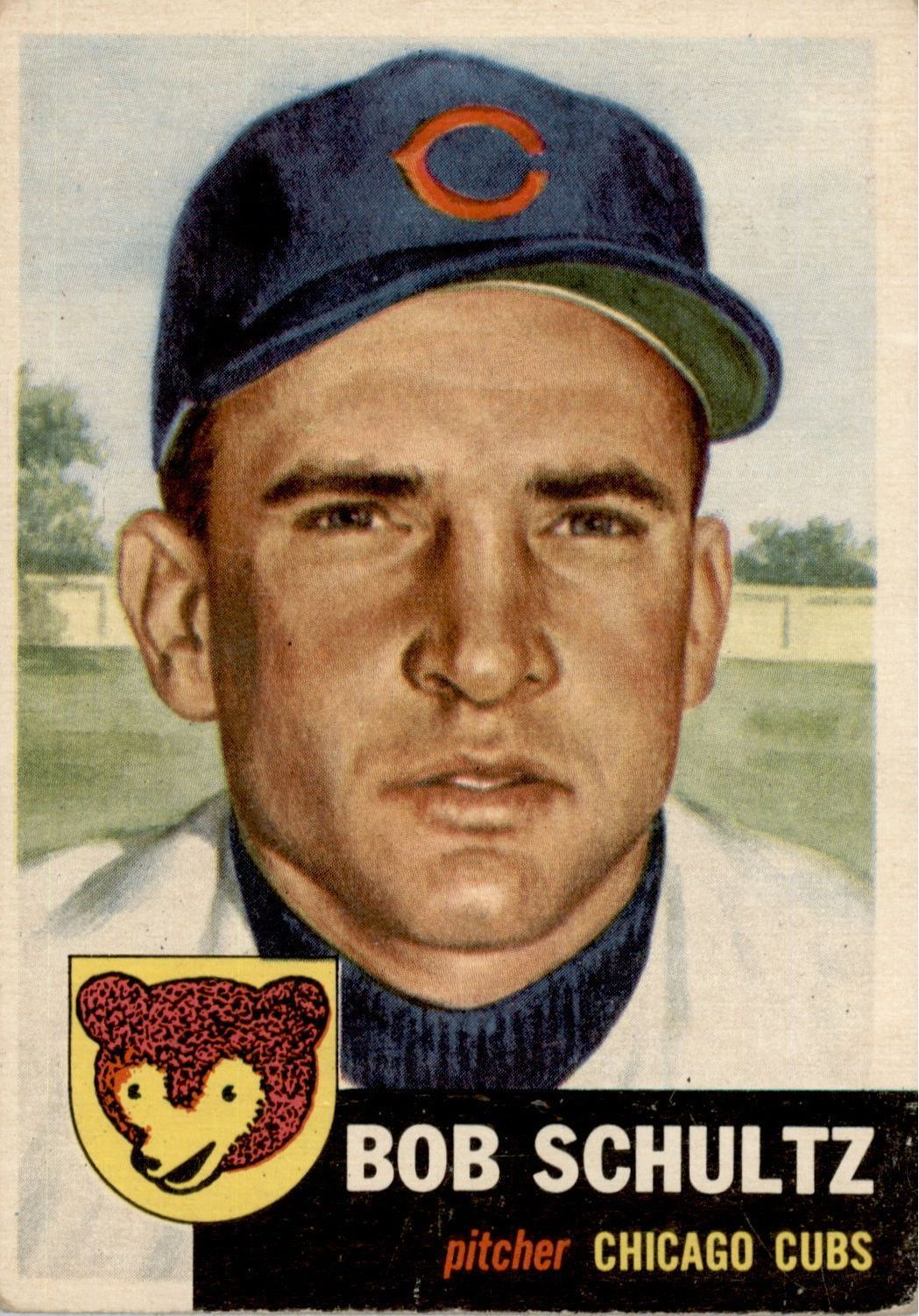 1953 Topps #144 Bob Schultz DP