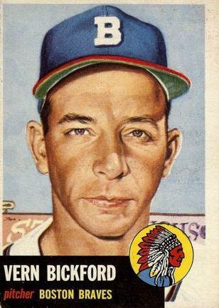 1953 Topps #161 Vern Bickford DP