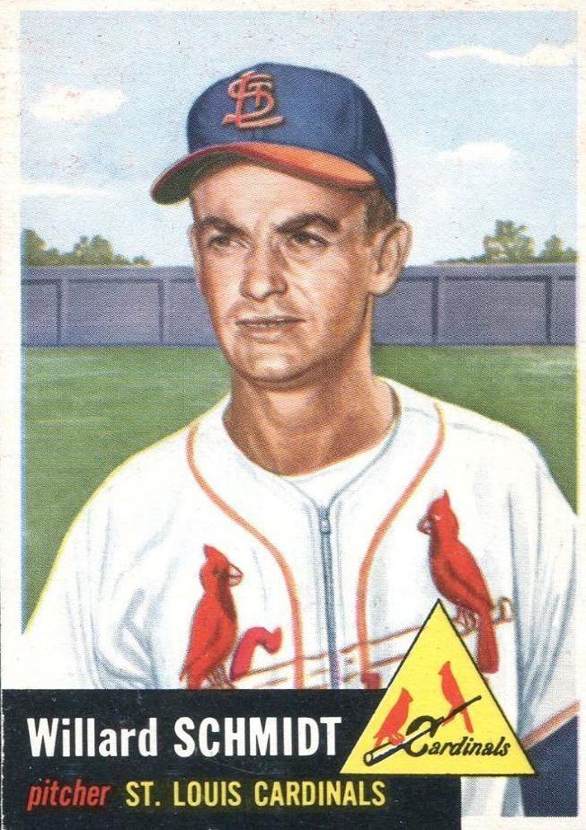 1953 Topps #168 Willard Schmidt RC