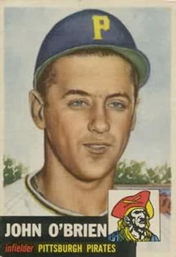 1953 Topps #223 Johnny O'Brien DP RC