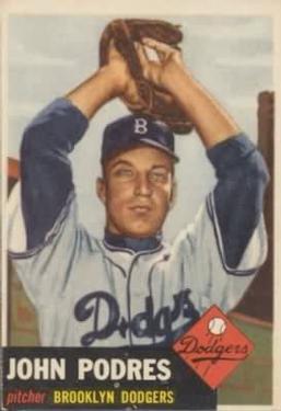 1953 Topps #263 Johnny Podres RC