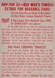 1953 Red Man #AL15 Joe Dobson back image