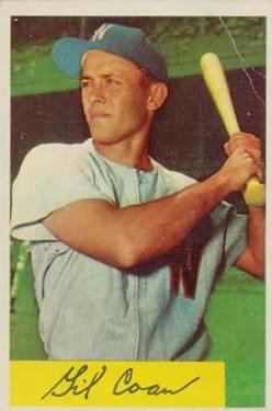 1954 Bowman #40 Gil Coan