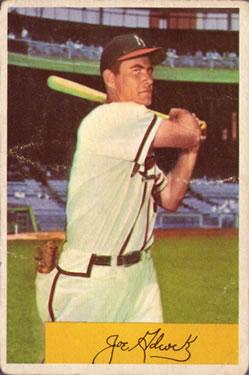 1954 Bowman #96 Joe Adcock