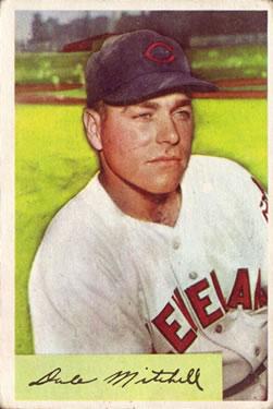 1954 Bowman #148 Dale Mitchell