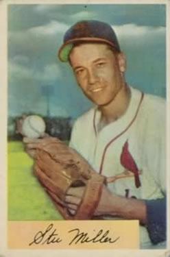 1954 Bowman #158 Stu Miller