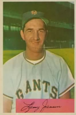 1954 Bowman #169 Larry Jansen