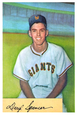 1954 Bowman #185A Daryl Spencer/.941/.944 Fielding Avg. RC
