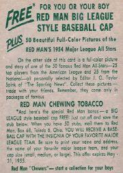 1954 Red Man #AL22 Ferris Fain back image