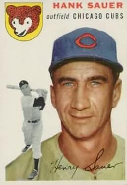 1954 Topps #4 Hank Sauer