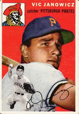 1954 Topps #16 Vic Janowicz