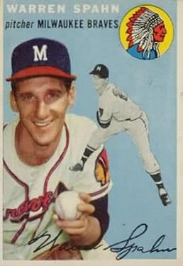 1954 Topps #20 Warren Spahn