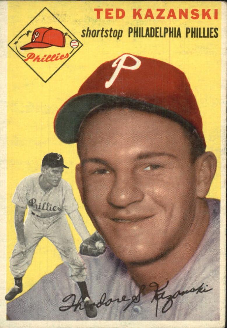 1954 Topps #78 Ted Kazanski RC