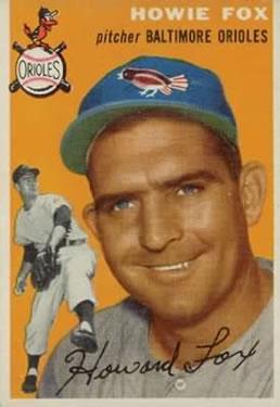 1954 Topps #246 Howie Fox