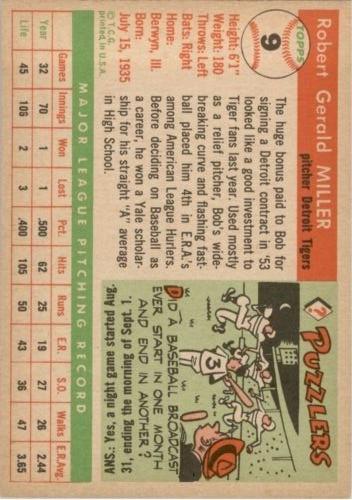 1955 Topps #9 Robert Miller back image