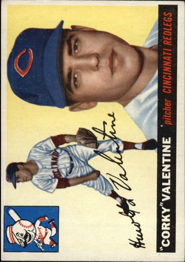 1955 Topps #44 Harold Valentine RC