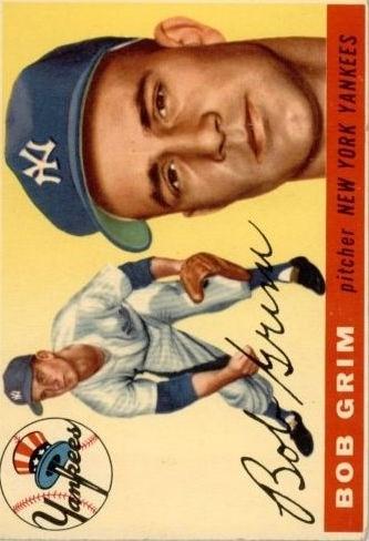 1955 Topps #80 Bob Grim RC