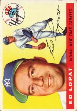 1955 Topps #109 Ed Lopat