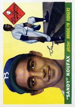 1955 Topps #123 Sandy Koufax RC