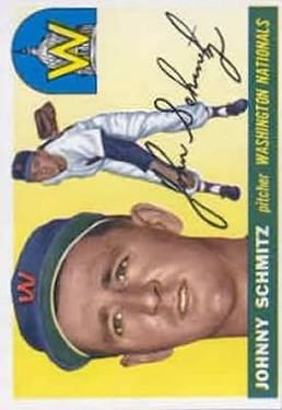 1955 Topps #159 Johnny Schmitz